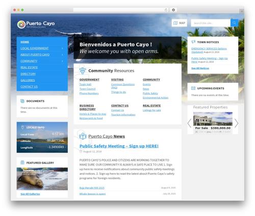 TownPress real estate WordPress theme - puertocayo.com
