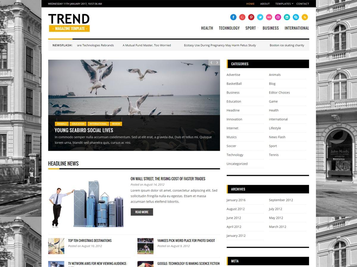 TrendKT newspaper WordPress theme
