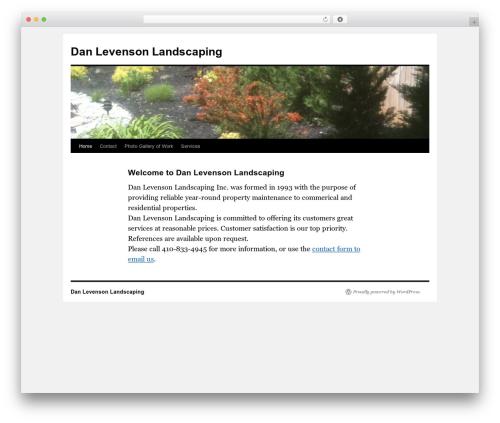 Twenty Ten theme WordPress free - danlevensonlandscaping.com