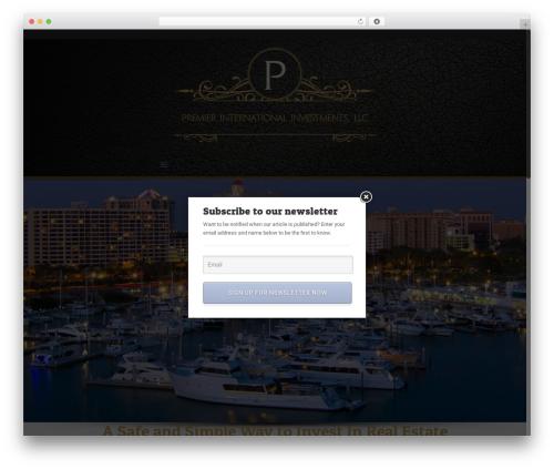 Free WordPress Email Subscription Popup plugin - premierinternationalinvestments.com