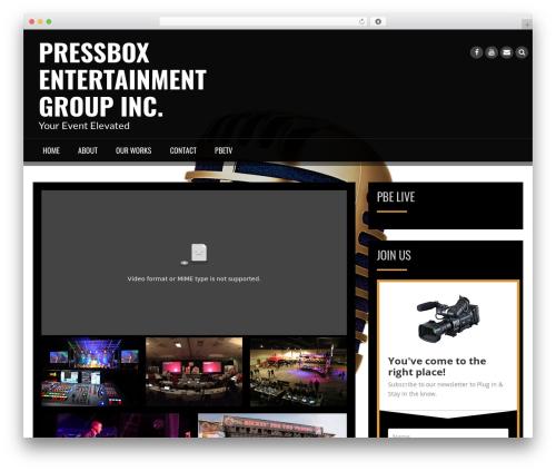 WordPress template Rock N Rolla - pressboxent.com