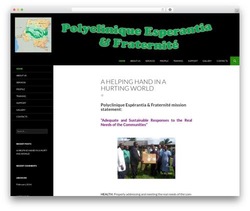 WordPress template Twenty Fourteen - polycliniquepef.org