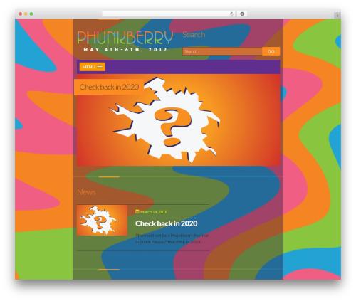 WordPress theme Dubstep - phunkberry.com