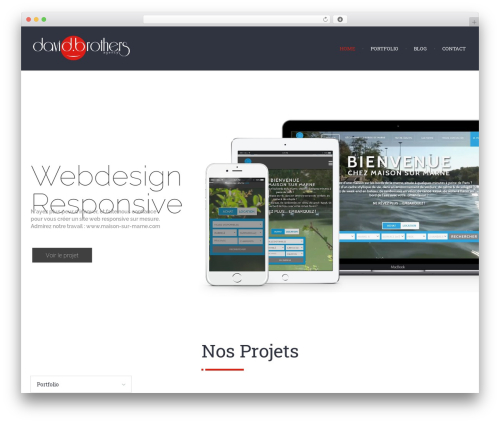 Chariot WordPress website template - davidbrothers.fr