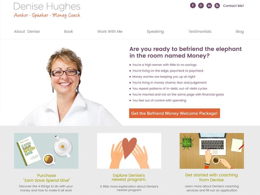 Denise Hughes  Author - Speaker - Money Coach template WordPress
