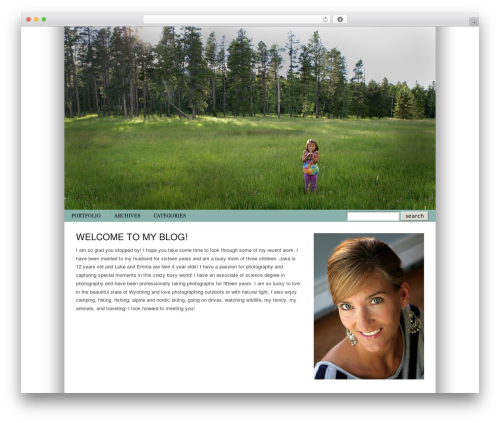 ProPhoto WordPress template for photographers - pearsonphotography.org