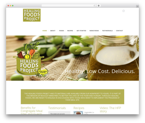 Rocco WP theme - healingfoodsproject.org