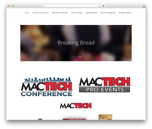 Theme WordPress Divi - events.mactech.com
