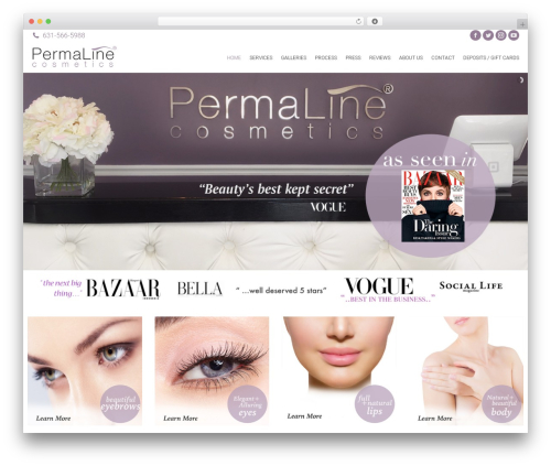 Theme WordPress The7 - permalinecosmetics.com