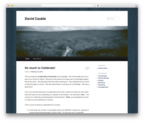 Twenty Eleven theme WordPress - davidcauble.com