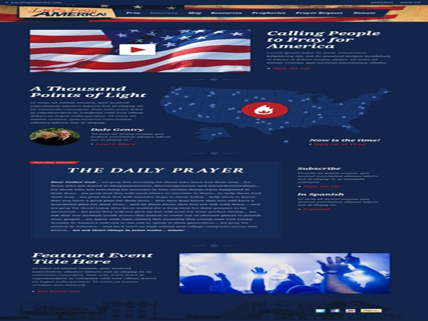 WordPress template LetsPrayAmerica