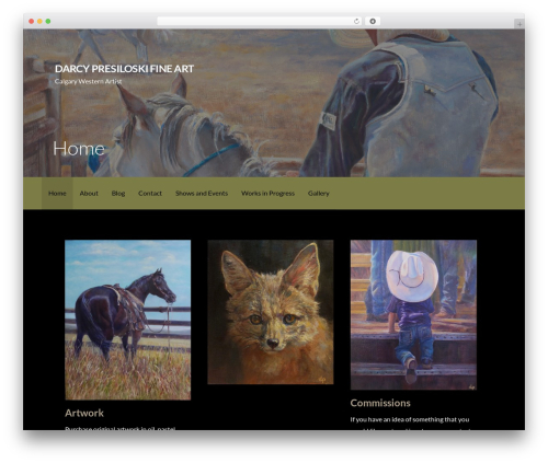 Activation free WordPress theme - darcypresiloski.com