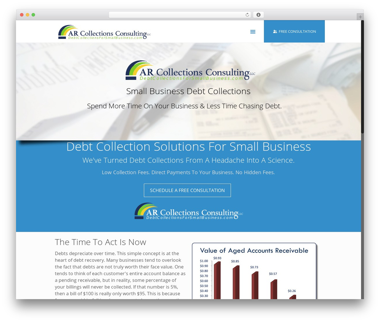 Betheme business WordPress theme - debtcollectionsforsmallbusiness.com