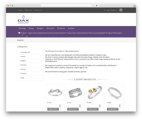 Free WordPress WooCommerce Thumbnail Input Quantities plugin - daxartificialjewellery.com