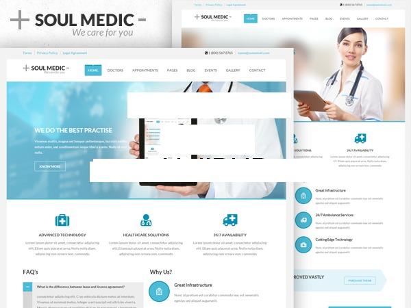 Soulmedic medical WordPress theme