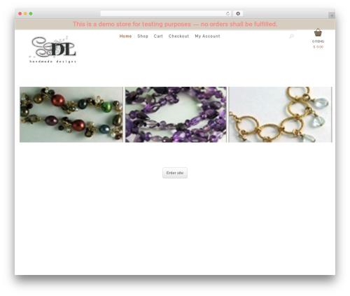 Theme WordPress Jewelry Shop - dlhandmade.com