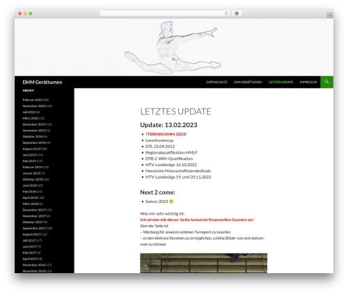 Twenty Fourteen best free WordPress theme - dhm-turnen.de