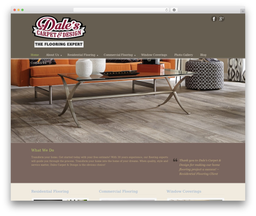 U-Design theme WordPress - dalescarpetandflooringredbluff.com