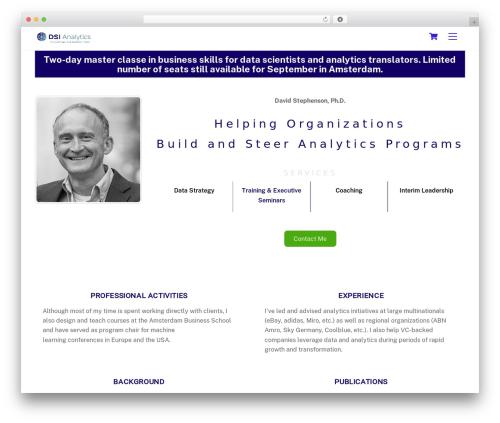 WordPress theme Themify Ultra - dsianalytics.com