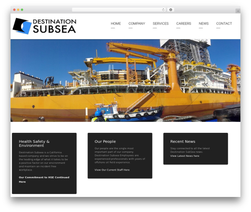 Arkitekt WordPress theme - destinationsubsea.com