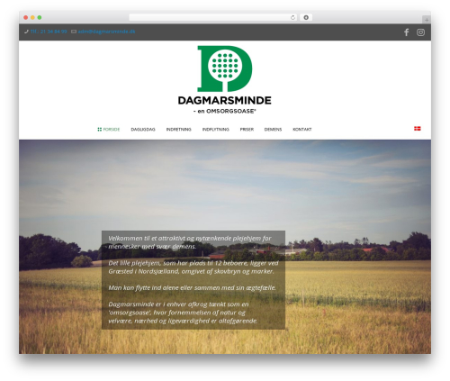 Betheme WordPress website template - dagmarsminde.dk