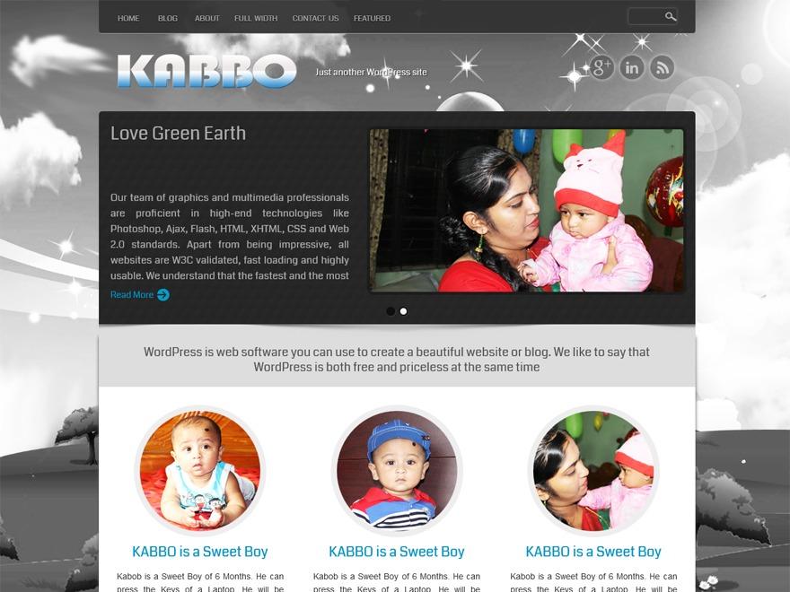 KABBO WordPress template for photographers