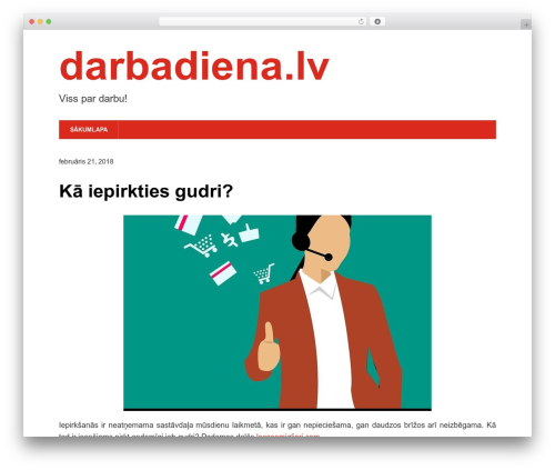 Modern Business WordPress template free - darbadiena.lv