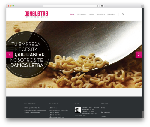 Salient WordPress theme - dameletra.com