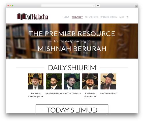 Theme WordPress X - dafhalacha.com