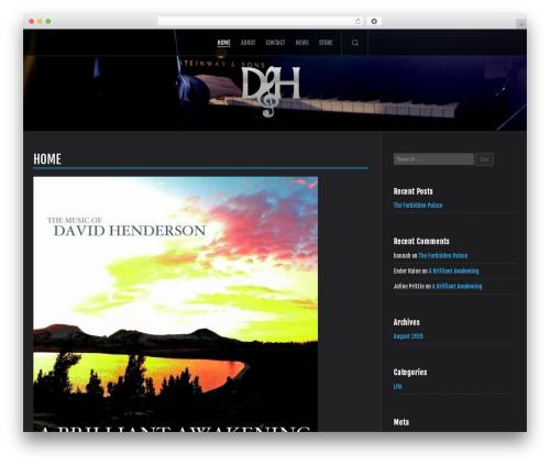 Trio WordPress theme - davidhendersonmusic.com