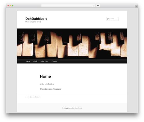 Twenty Eleven free WordPress theme - dahdahmusic.com