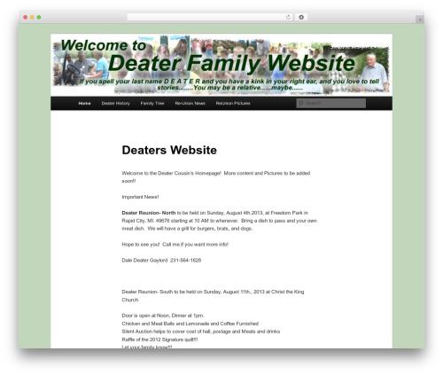 Free WordPress WP Family Tree plugin - deater.com