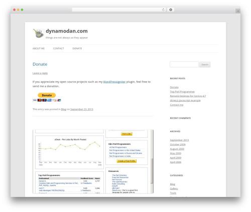 Twenty Twelve template WordPress free - dynamodan.com