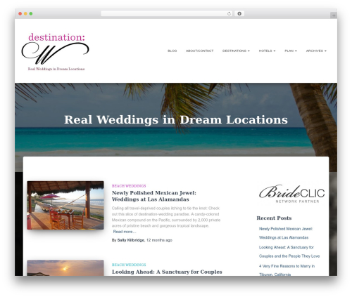 WordPress theme Hestia - destinationw.com
