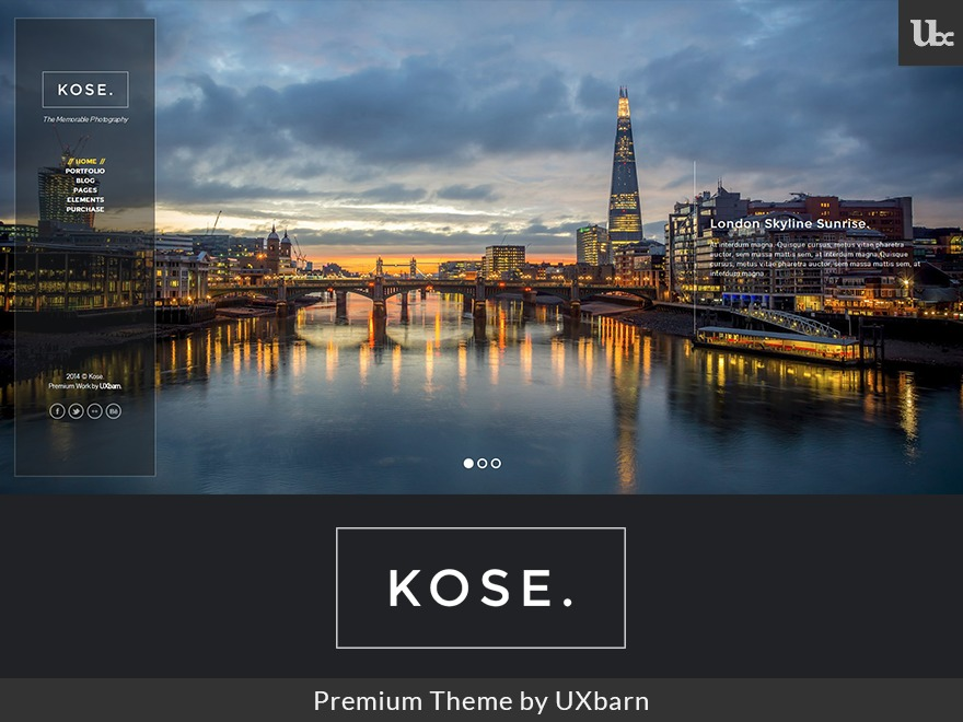 WordPress theme Kose Child