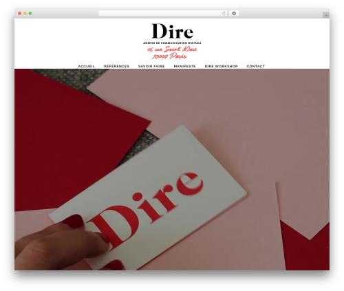 WordPress website template Bridge - dire.agency