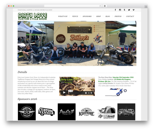 Best WordPress theme Lounge - dirtyloveshow.com.au