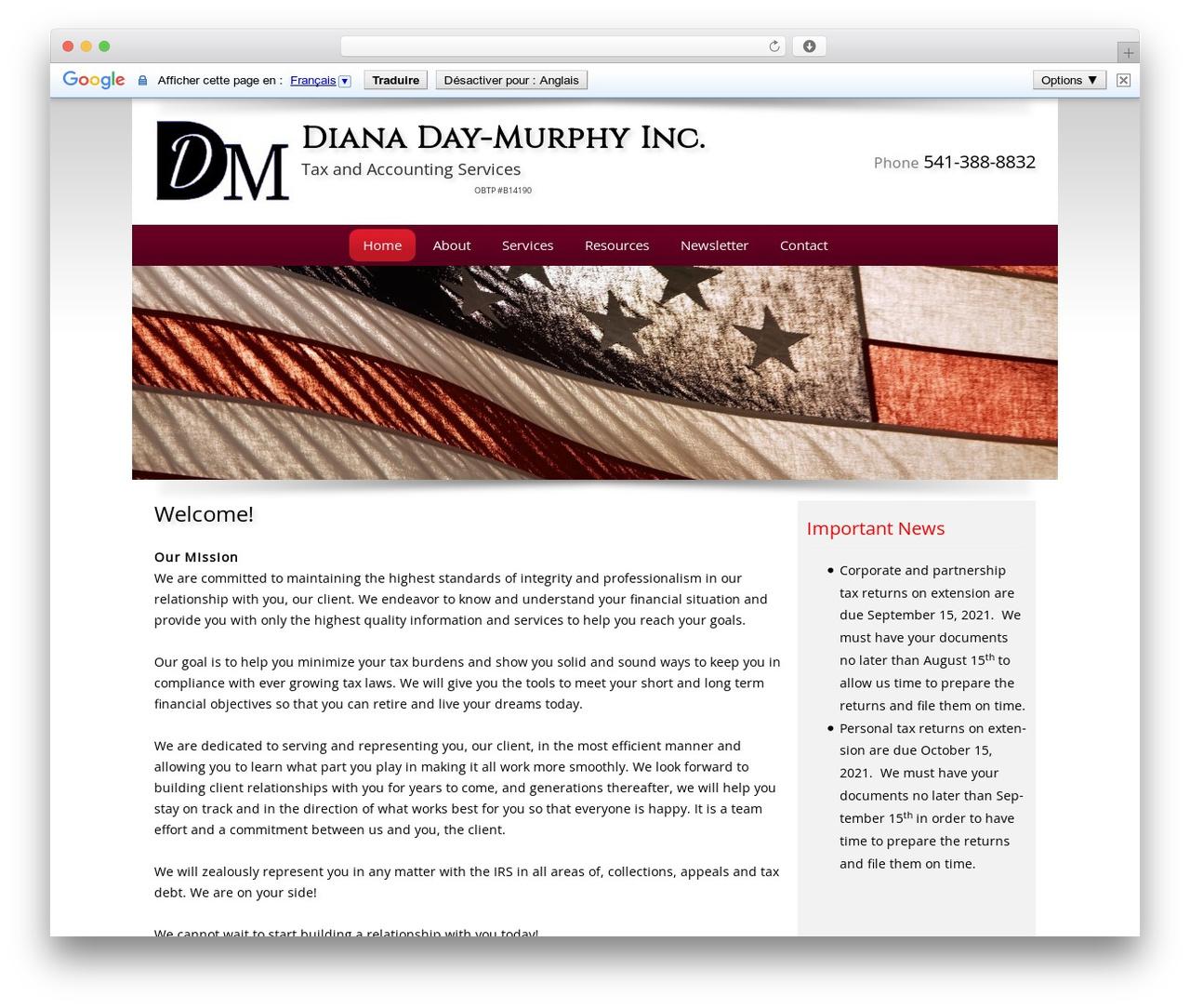 Customized premium WordPress theme - d-mtaxandaccounting.com