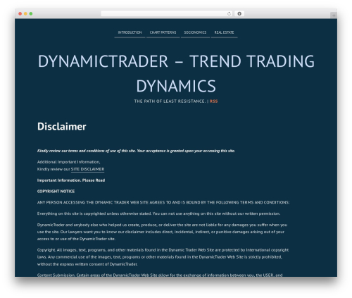 Deep Sea free WP theme - dynamictrader.org