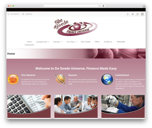Envision top WordPress theme - degoedeplanet.co.za