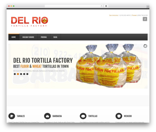 GoodSimple top WordPress theme - delriotortillas.com