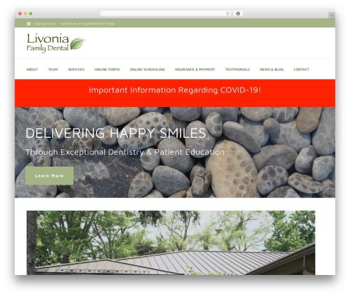 Jupiter WordPress website template - drglivoniadental.com