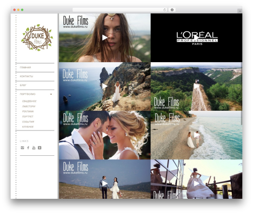 Lens (shared on wplocker.com) WordPress page template - dukefilms.ru