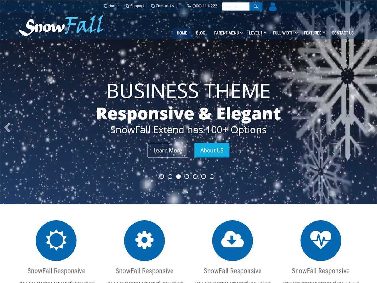 SnowFall Extend best portfolio WordPress theme
