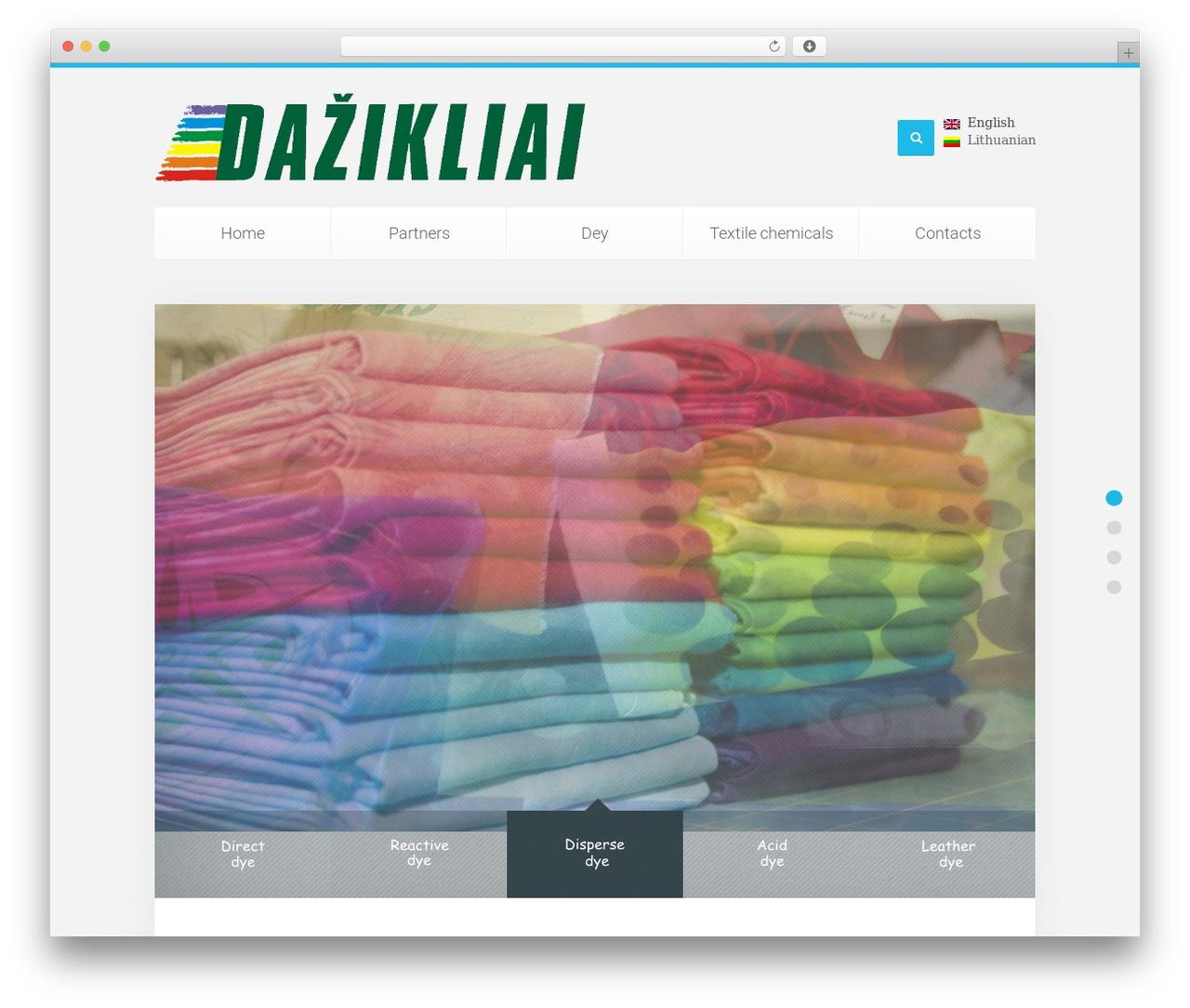 Theme WordPress Unity - dazikliai.com