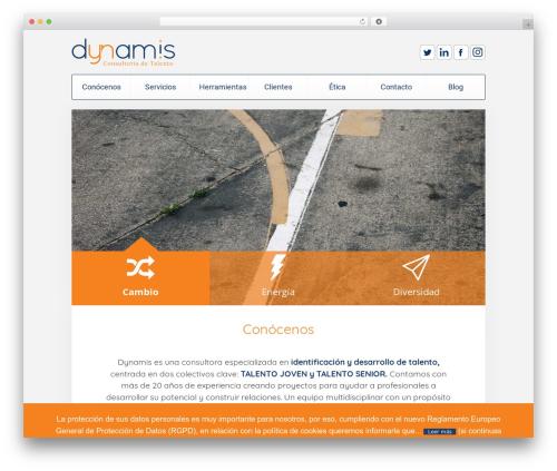Unity WordPress theme - dynamis.es