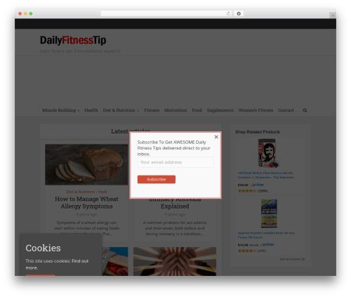 Free WordPress Meks Smart Social Widget plugin - dailyfitnesstip.com