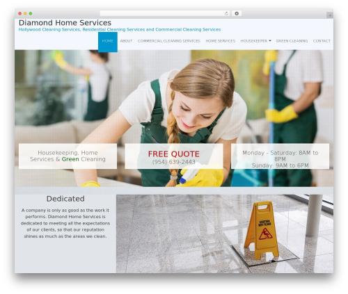 WordPress theme Janitorial 2 V8 - diamondhomeservicesflorida.com/home