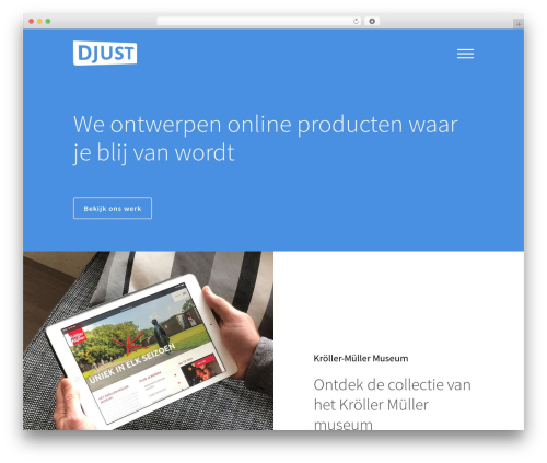 WP theme Bridge - djust.nl