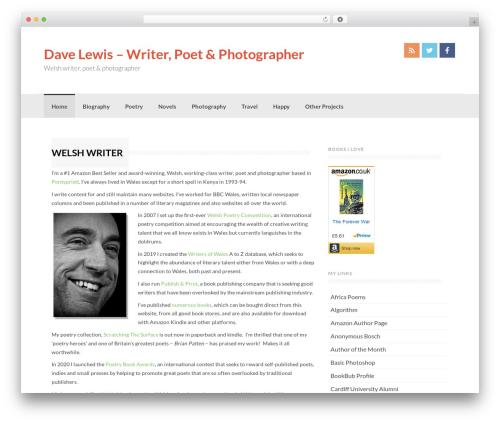 Coller free WP theme - david-lewis.co.uk